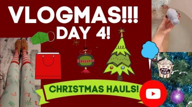 VLOGMAS! DAY 4! CHRISTMAS SHOPPING HAULS!!!